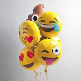 Шарики на День Рождения с улыбками и эмоциями