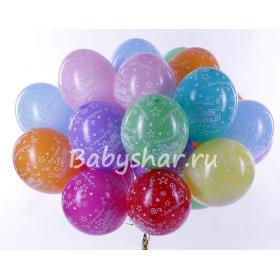 Шарики на День Рождения матовые