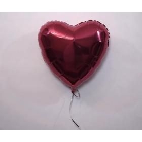 Фольгированное сердце бургундия (Винное)