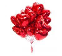 Фольгированные шары красные сердца
