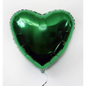 Фольгированное зеленое сердце