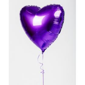 Фольгированное фиолетовое сердце
