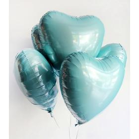 Шар сердце голубой пастель