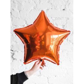 Фольгированная оранжевая звезда