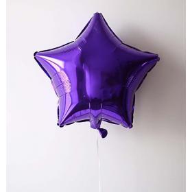 Фольгированная фиолетовая звезда
