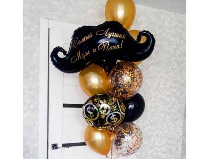 Воздушные шары для мужа с надписью на День Рождения