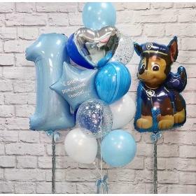Воздушные шарики на один годик для мальчика