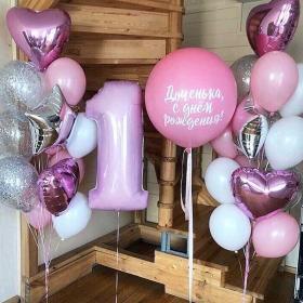 Украшение шариками на 1 годик для девочки