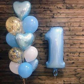 Воздушные шары на 1 годик мальчику