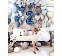 Оформление шарами на 2 года мальчику