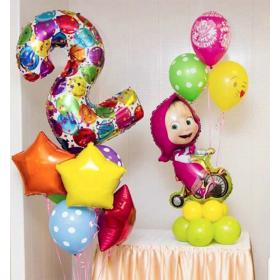 Украшение шарами на 2 года девочке