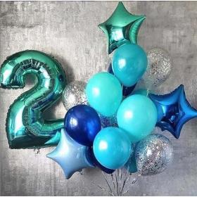 Украшение шарами на 2 года мальчику