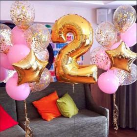 Воздушные шары на 2 года девочке