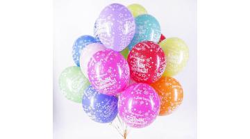 Микс из цветных шариков на день рождение