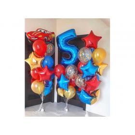 Композиция букетов из шариков на 5 лет
