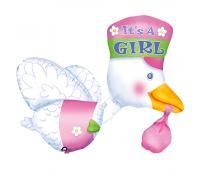 Фольгированный шар Аист для девочки