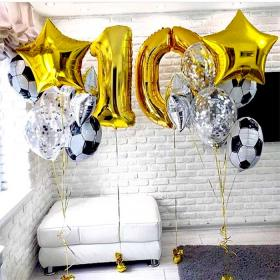 Готовый сет из воздушных шаров на 10 лет