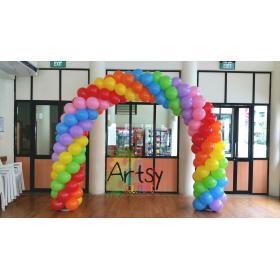 Арка из шаров 7 метров на вход 4 цвета