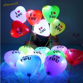 Разноцветные Светящиеся шары с воздухом на палочке