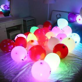 Разноцветные Светящиеся шары с воздухом