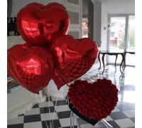 Фольгированные сердца 5 шт