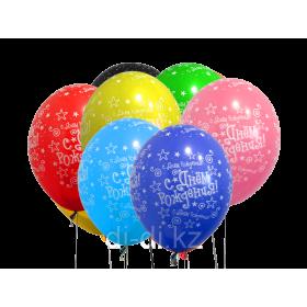 Шелкография пастель С Днем рождения Звездочки