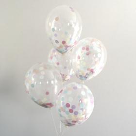 Прозрачные шары с нежным конфетти