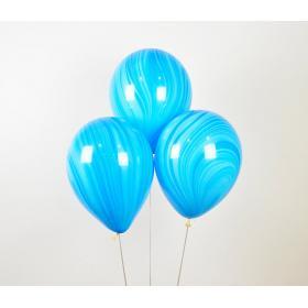 Шары Агаты Голубой цвет