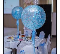 Круглый прозрачный шар диаметром 65 см наполнением конфетти