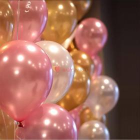 """Шары Металлик 14"""" Розовые, Золотые и Перламутровые"""