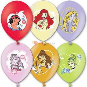 Шары с многоцветным рисунком Дисней Принцессы