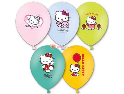 Шары с многоцветным рисунком Hello Kitty
