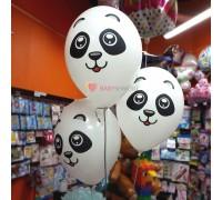 Шары белые с изображением Панды