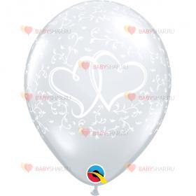 Шары Шелк Сердца переплетенные DiamCl