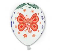 Шелкография пастель Бабочки