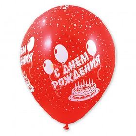 """Шелкография пастель 14"""" С Днем рождения Торт"""