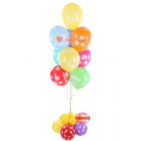 Букет из шариков на выписку из сочных красок и сочетаний