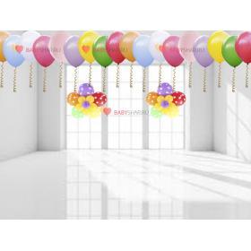 Вариант украшения воздушными шарами квартиры для мальчика или девочки