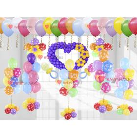 Универсальный вариант с множеством элементом из шаров на выписку для мальчика или девочки