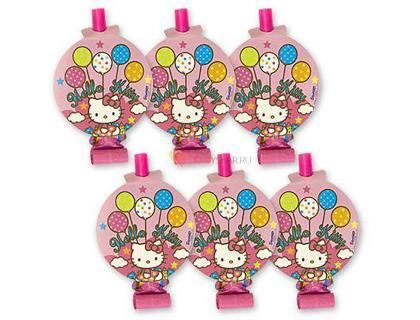 Язык-гудок с картинкой Hello Kitty