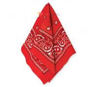 Бандана с рисунком красная