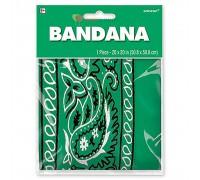 Бандана с рисунком зеленая