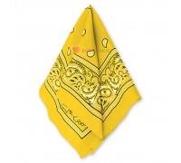 Бандана с рисунком желтая