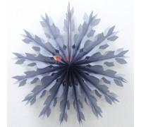 Бумажный диск Снежинка Серебро голография