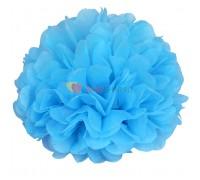 Бумажный помпон Голубой