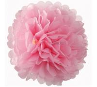 Бумажный помпон Розовый