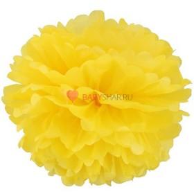 Бумажный помпон Желтый