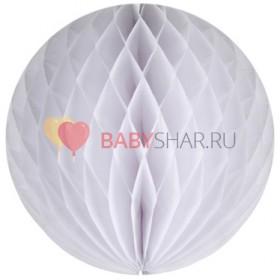 Бумажный шар Белый