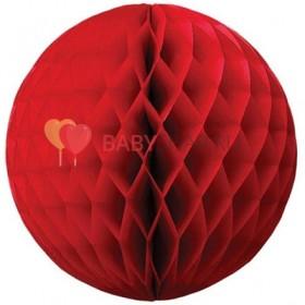 Бумажный шар Красный
