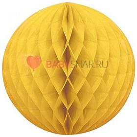 Бумажный шар Желтый